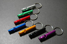 Emergency Survival Whistle Key Chain (Aluminum) for Camping Hiking and Outdoor