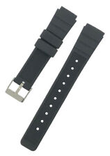 Black Divers Rubber Resin Heavy Duty Watch Strap 18/20/22/24mm