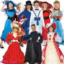 GIRLS VICTORIAN LADY GIRL QUEEN POSH BOOK CHARACTER KIDS FANCY DRESS COSTUME NEW