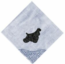 American Cocker Spaniel  Lace Corner Hankie Embroidered by Dogmania