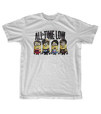 All Time Low Minions Band Members Despicable Me T-Shirt Men's and Women's Grey