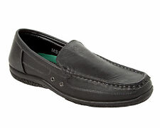 MENS BLACK CASUAL FORMAL OFFICE SMART SLIP ON LOAFERS SHOES UK SIZE 6-11