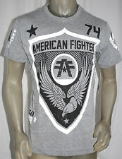 NWT AMERICAN FIGHTER premium men gray casual short sleeve crewneck TSHIRT *S-2XL