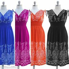 NWT JON & ANNA Paisley Print V-Neck Smocked Long Maxi Summer Dress Cruise Beach