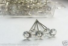 Diamante Florist Pins 4cm Wedding Bouquet Buttonholes Craft Floristry 25 50 100
