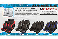 Universal Cloth Car Seat Cover's Full Set Front & Rear Split Rears Airbags Safe