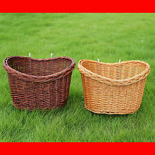 New Bicycle Bike Cycle Handlebar Wicker Front Shopping Basket Retro Look UK Sale