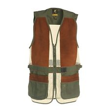 Browning Sandoval Pig Suede Patch Shooting Shooters Mesh Pannel Vest - NEW!