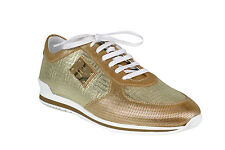 Versace Men's Leather Goldtone Fashion Sneakers