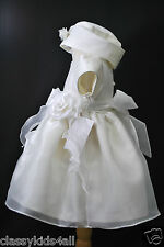 Baby toddler Girl Pageant Baptism Communion Formal White dress size SMLXL 0-36M