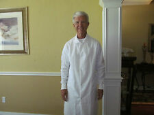 """Unisex Cotton Blend White Medline Snap front w/ cuff Length 40"""" for 9.00ea."""
