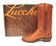 Lucchese Burn Smo/Tn Burn Brown Boots N9581 Made In The US