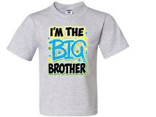 I'M THE BIG BROTHER NEON Kids T-Shirt JERZEES BRAND Size 2-4 To 14-16 THE BEST