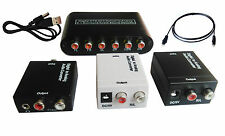 2015 Digital Coaxial Toslink to Analog Audio Adapter RCA Converter hdtv dvd xbox