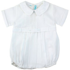 Feltman Brothers Infant Boys White Belted Romper 3m 6m
