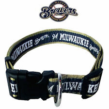 MLB Fan Gear MILWAUKEE BREWERS Nylon Collar for Dog Dogs Puppy Puppies