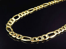 New Mens Genuine 10K Yellow Gold Italian Figaro Link Chain Necklace 9MM 22-30 in