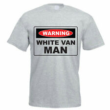 WARNING WHITE VAN MAN - Delivery Man /Novelty / Funny / Gift Themed Mens T-Shirt