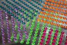 117pc 6mm Rhinestone Gemstone Scrapbooking Stickers Self Adhesive Bling MP3 928