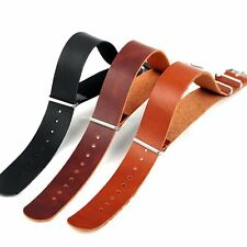 Hot HighQuality 20/22mm Leather Strap Steel Buckle Wrist Watch Band CA