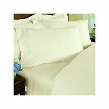 1000TC 100% EGYPTIAN COTTON 4PC SHEET SET ALL US  SIZE AVAILABLE IVORY SOLID