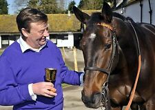 NICKY HENDERSON HORSE TRAINER WITH LONG RUN 01 (HORSE RACING) PHOTO PRINT 01A