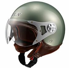 Motorcycle Biker Moped Scooter Cruiser European Style HELMET Vespa w/Ear Curtain