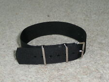 Genuine Phoenix Straps UK Black   MOD  RAF military  watchstrap 20 or  22mm