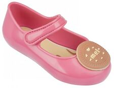 Mel by Melissa Girls Mini Mel Cool Baby Biscuit Pink Jelly Pumps Shoes New In