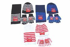 BOYS DISNEY MCQUEEN CARS HAT SCARF GLOVES SET APPROX AGES 2-4 YEARS 4-8 YEARS