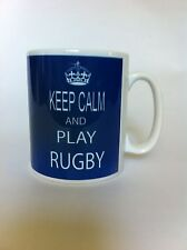 KEEP CALM AND PLAY RUGBY/birthday/gift,/novelty.PERSONALISEDfree P+P 024