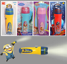 Disney & Kids Tv Personaje Divertido Juguete Luz De Flash Antorcha Nuevo congelados Minion Spiderman