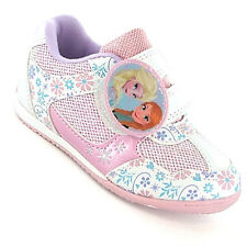 Disney FROZEN Girls Shoes Size 6 7 8 9 10 11 12 Queen Elsa Anna New Trainers