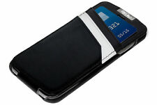 Mossimo Black White Leather Wallet Case/Credit Card Holder for iPhone 6 6S