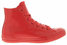 Converse Hi Top Mono Chuck Taylor Rubber Sneakers in Red NEW