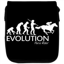 Evolution Of A Horse Riding Black Shoulder Bag