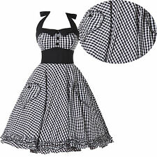 Swing Dance 60s 50s VINTAGE HEPBURN Housewife Rockabilly Pinup Party Prom Dress