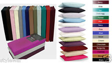 NEW FITTED,SHEET FLAT & VALENCE PLAIN PERCALE SHEETS OR PILLOWCASES (ALL SIZES)