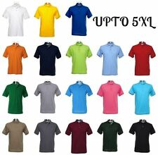 Mens Polo Shirt Short Sleeve Top Work or Casual Wear XS - 3XL 4XL 5XL Plus Sizes