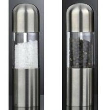 David Mason Design Stainless Steel Cute Salt Pepper Pots Mills Grinders NEW