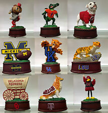 NCAA TEAM MASCOT MUSICAL  FIGURINE PLAYS FIGHT SONG SELECT YOUR FAVORITE COLLEGE