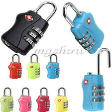 TSA Security 3 Combination Padlock Travel Luggage Suitcase Resettable Code Lock