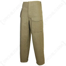 British Army Pattern 37 Trousers WW2 Repro - Serge Brown Battle Dress All Sizes