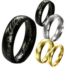 Stainless Steel Ring the Lord of the ring Band Hobbit Rock Jewelry Cool New Punk