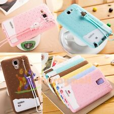 Cute Scent Sweet Rabbit Robot Silicone GEL Rubber Case Soft Cover For Samsung