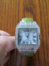 Waltham Bracelet Watch with square face and crystals