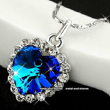 Titanic Heart Of The Ocean Necklace Blue Stunning Xmas Gift For Her Wife Women