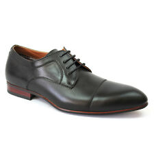 New Men's Black Ferro Aldo Pointed Cap Toe Leather Lining Dress Shoes Modern NEW