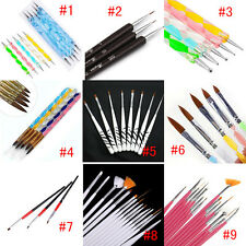 Multiple Nail Art UV Acrylic Gel Design Pen Painting Brush Manicure Tips Tool US