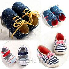 NEW Sneaker Anti-slip Baby Girl Boy Crib Shoes Toddler Infant 0-6-18 Months #US
